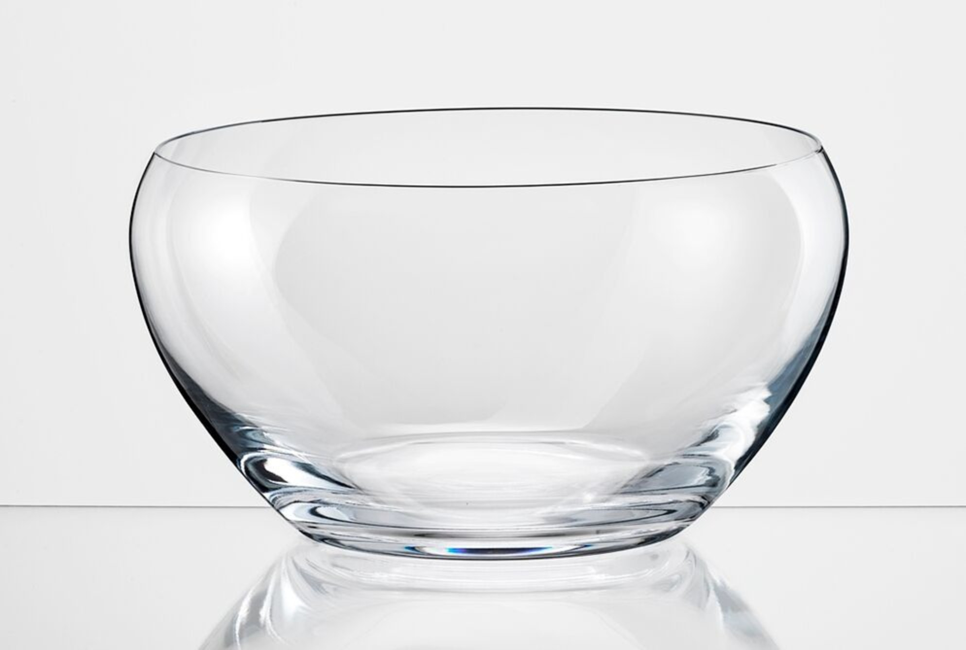 Bohemia Crystal Fruit Bowl 235mm Bar Glassware in Transparent Colour by Bohemia