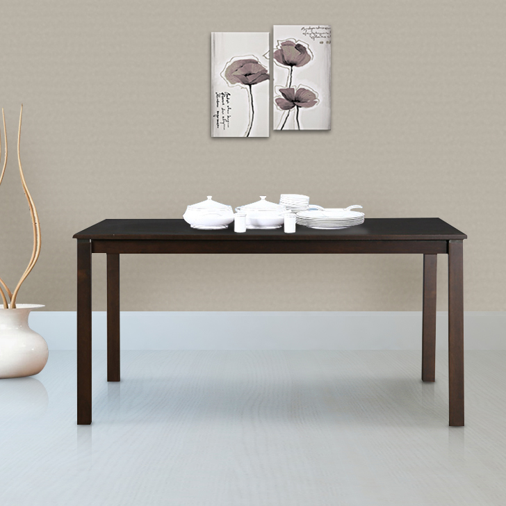 Beldon Solid Wood Six Seater Dining Table in Wenge Colour by HomeTown