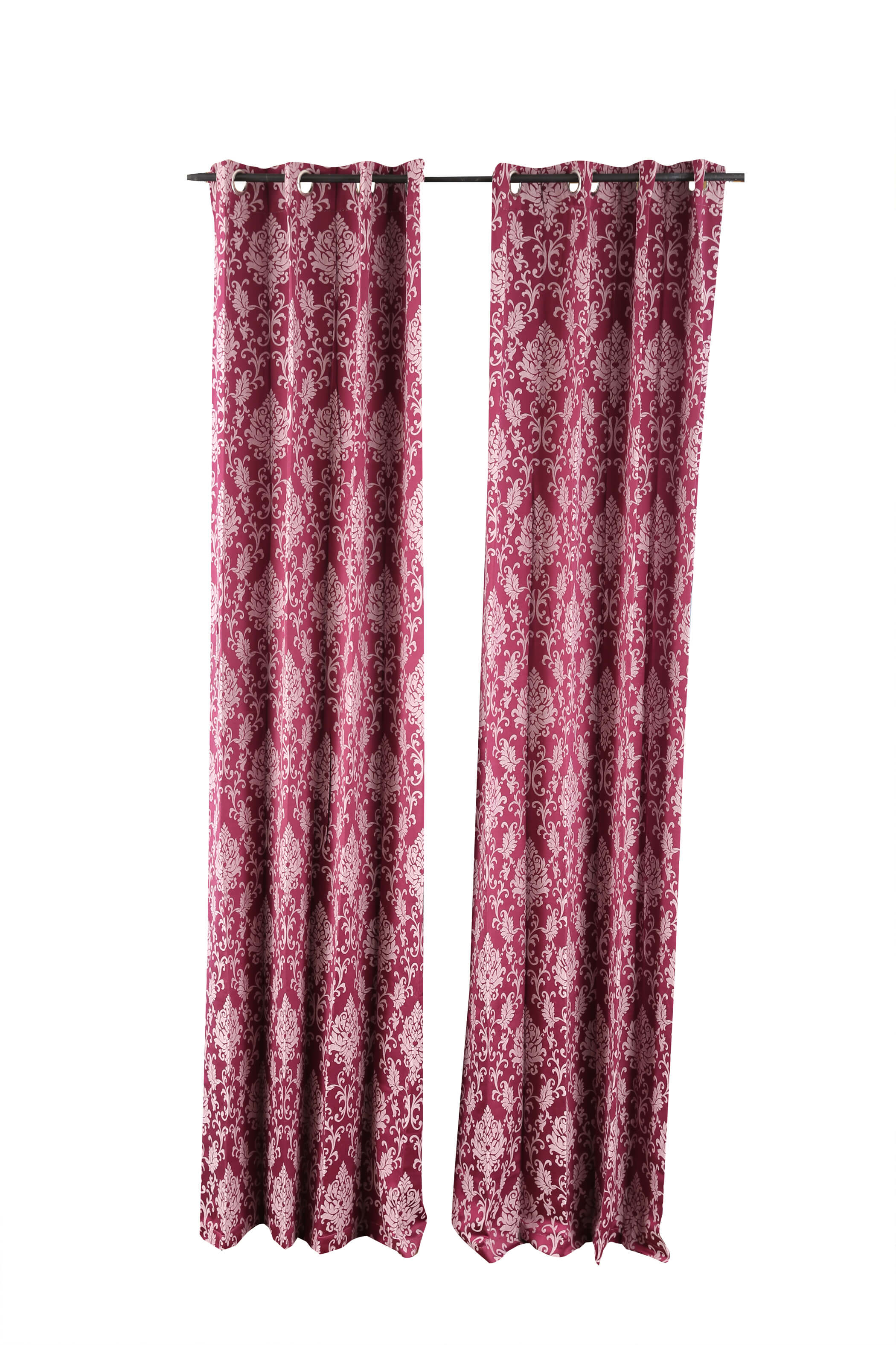 Florina Polyester Door Curtains in Wine Colour by Living Essence