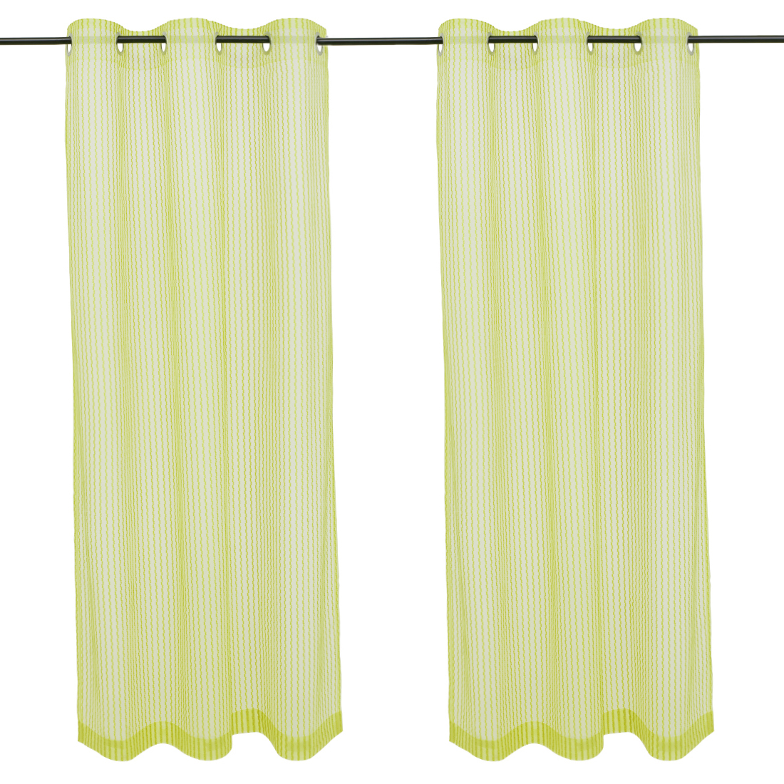 Amour set of 2 Polyester Door Curtains in Citron Colour by Living Essence