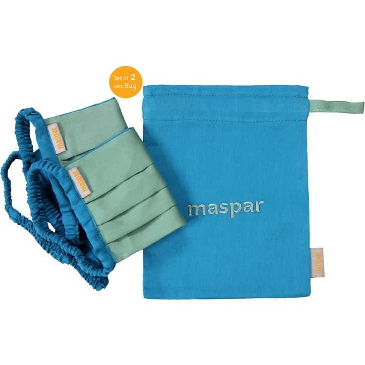 Maspar Cotton Mask in Green Colour by HomeTown