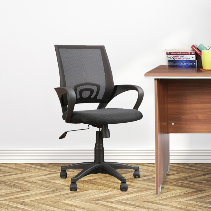 Regal Nylon Office Chair in Black Colour by HomeTown
