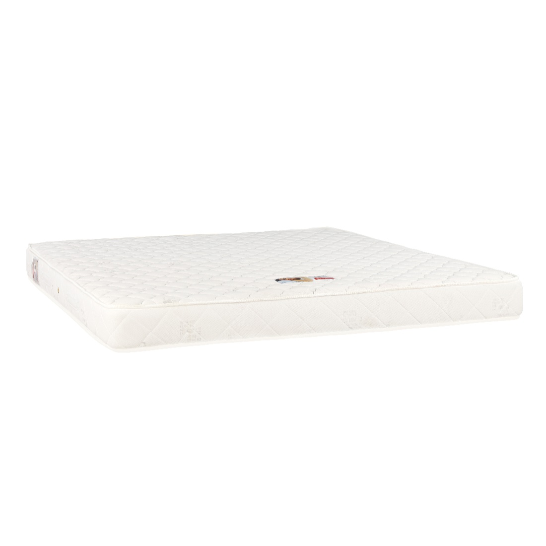 Comfort Fabric King Bed Mattress in Cream Colour by HomeTown