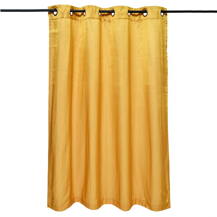 Fiesta Essential Polyester Window Curtains in Mustard Colour