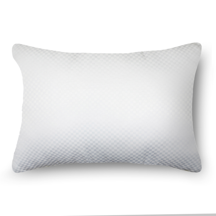 Solid Self Design Micro Pitch Pillow White Non Woven Cotton Fibre Pillows in White Colour by Living Essence