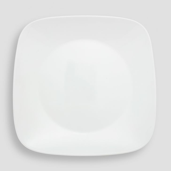 Corelle Winter Frost White Square Dinner Plate Vitrelle Plates in White Colour by Corelle