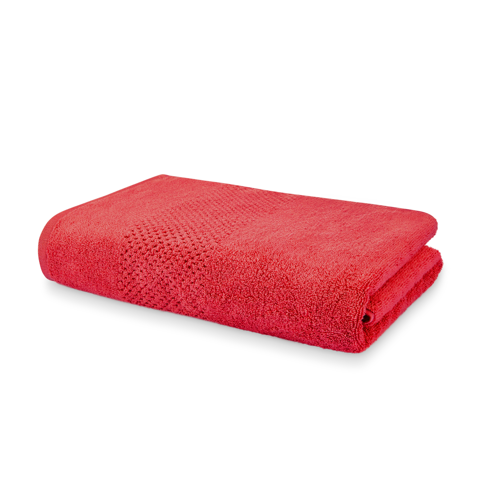 Spaces Essentials 1 Cotton Gsm 1 Bath Towel Cotton Double Bed Sheets in Red Colour by Spaces