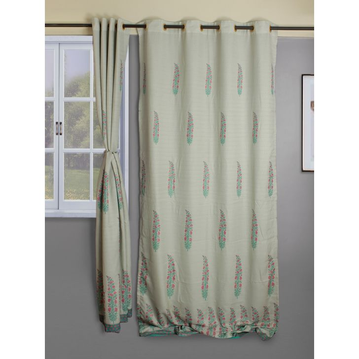 check MRP of blue colour curtains Living Essence