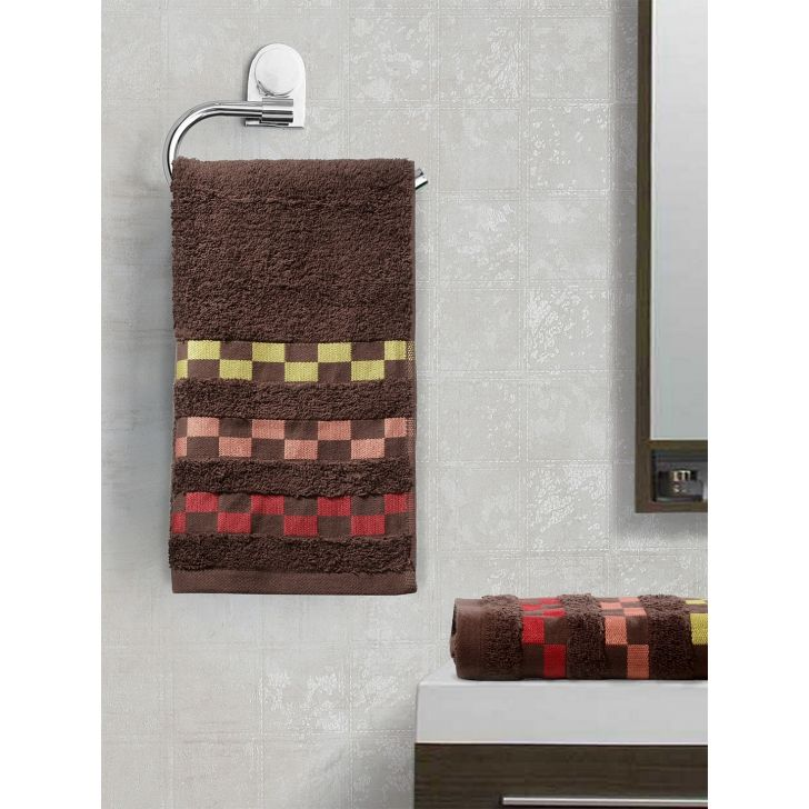 Sonoma Cotton Set Of 2 Hand Towel 40X60 Cm 450 Gsm in Brown Colour