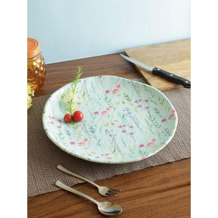 Nora Tropical Melamine Plate 28 Cm in Multi Colour by Living Essence