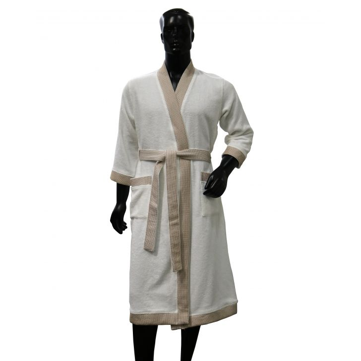 Spaces Swift Dry Turquoise Green Cotton Bath Towel Cotton Bath Robes in White Colour by Spaces