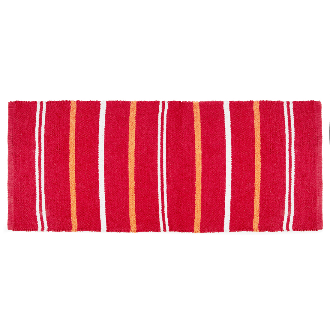 Emilia Chenille Chenille Mats & Rugs in Red Colour by Living Essence
