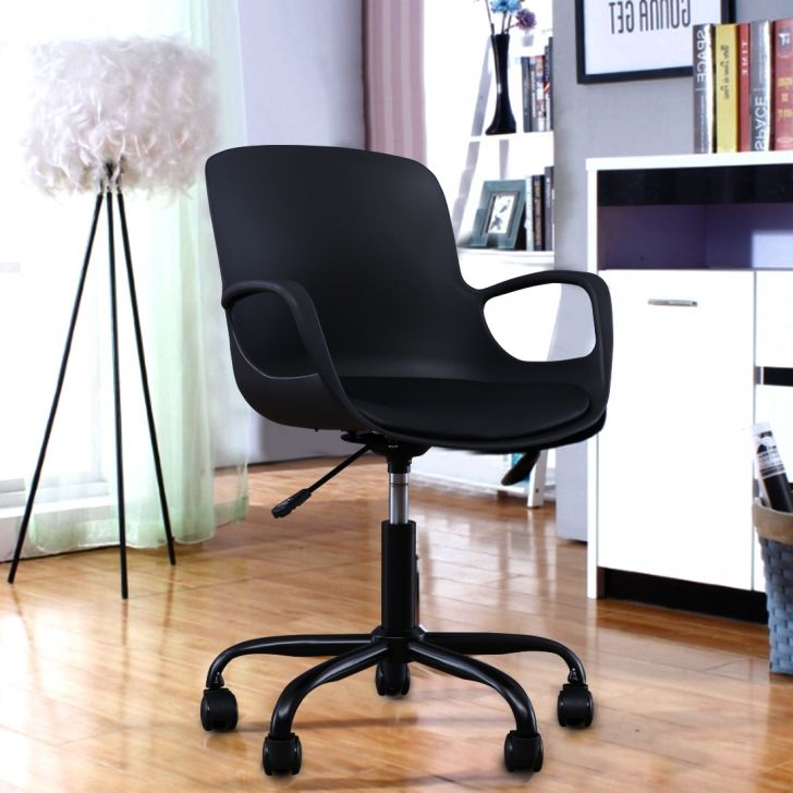 Bold Plastic Study Chair in Black Colour by HomeTown