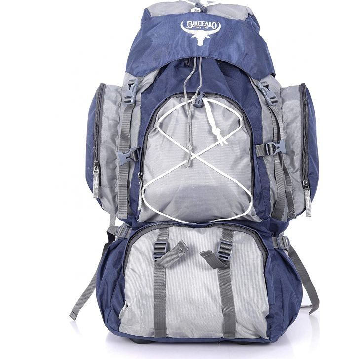 Mammoth Large Polyester Rucksack in Grey Colour by Buffalo