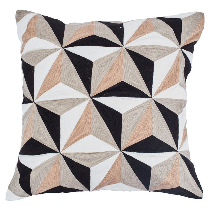 Malbec Cushion Cover Polyester Cushion Covers in Grey Colour by Living Essence