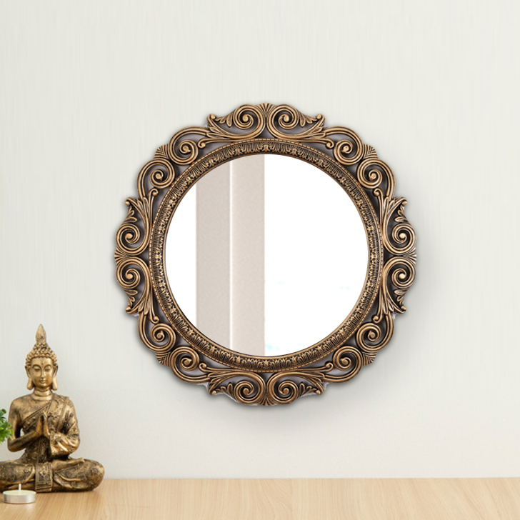 "ARISTO ANOKHI DESIGN 20""MIROR M1050 Plastic Wall Accents in Transperant Colour by Living Essence"