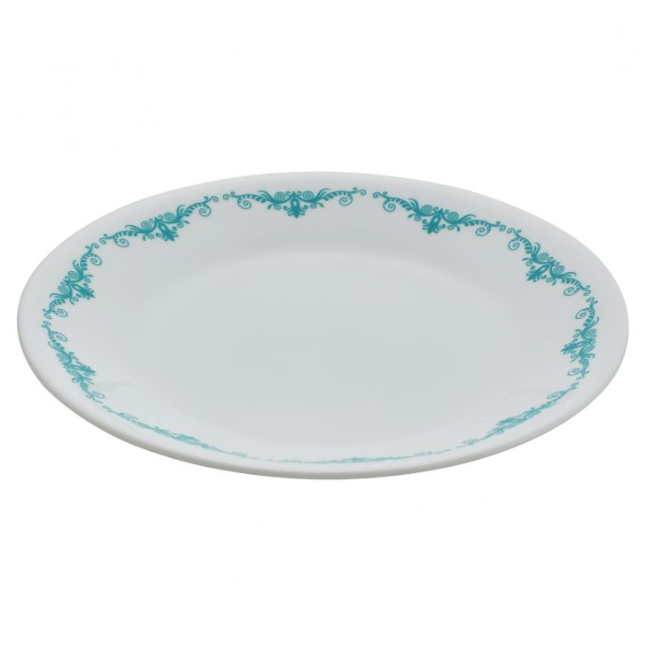 Corelle Small Plate Grdn Lace Vitrelle Plates in White Colour by Corelle