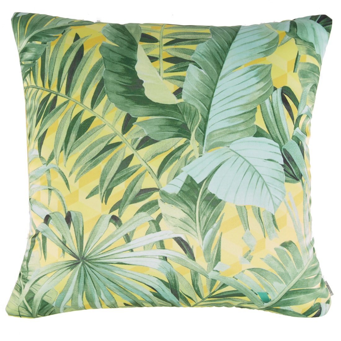 Digital Cushion Cover Palm Cushion Covers in Poly Satin Colour by Living Essence