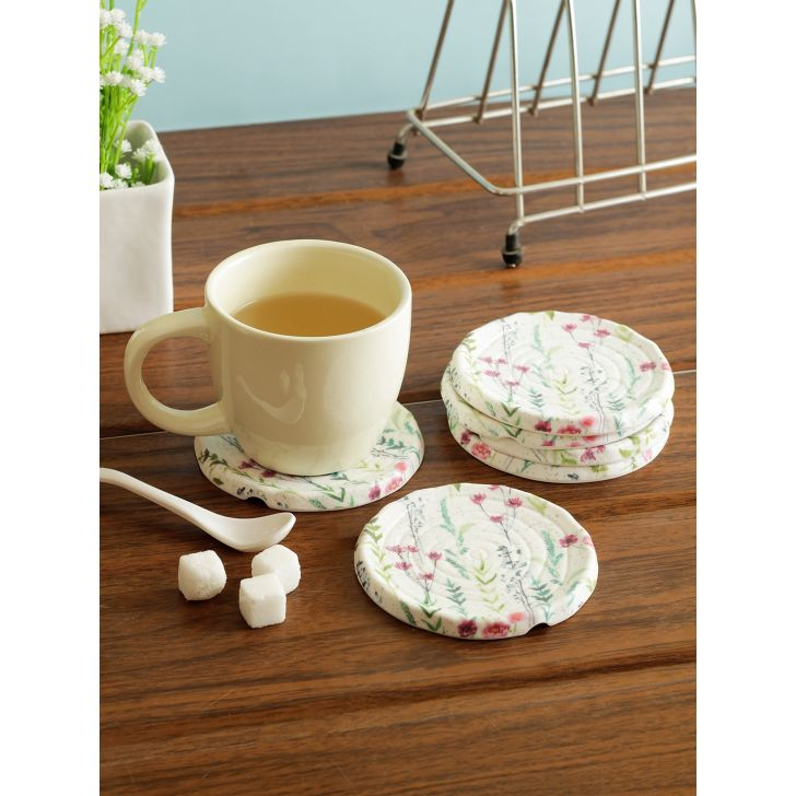 Nora Tropical Melamine Coaster in Multi Colour by Living Essence