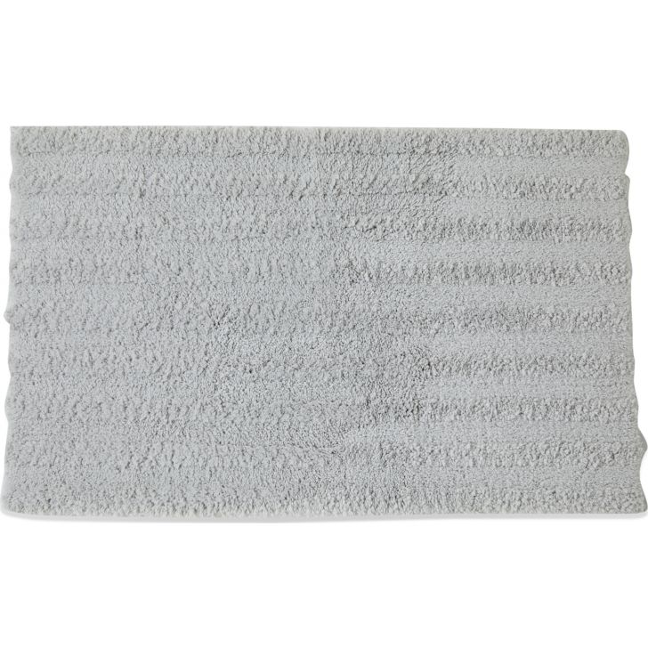 Spaces Polyester Bath Mat in Silver Colour by Spaces