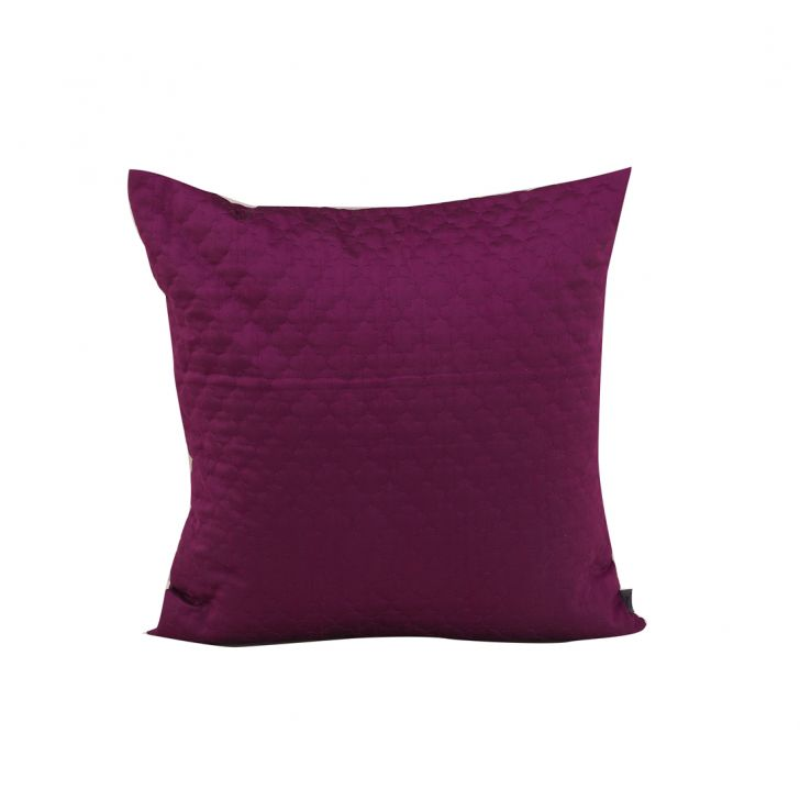 Arta Purple Polyester Cushion Covers in Purple Colour by Living Essence