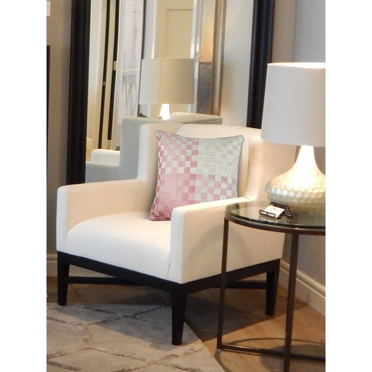 Basket Blush Polyester Cushion Covers in Blush Off white Colour by Living Essence