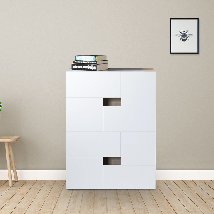 Edwina Engineered Wood Chest of Darwer in White Colour by HomeTown
