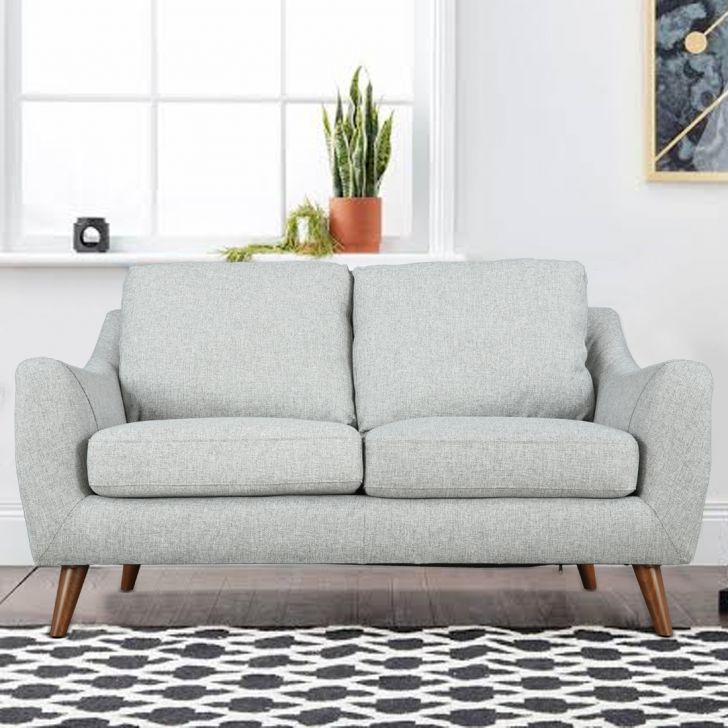 Vicenza Fabric Two Seater Sofa in Grey Colour by HomeTown