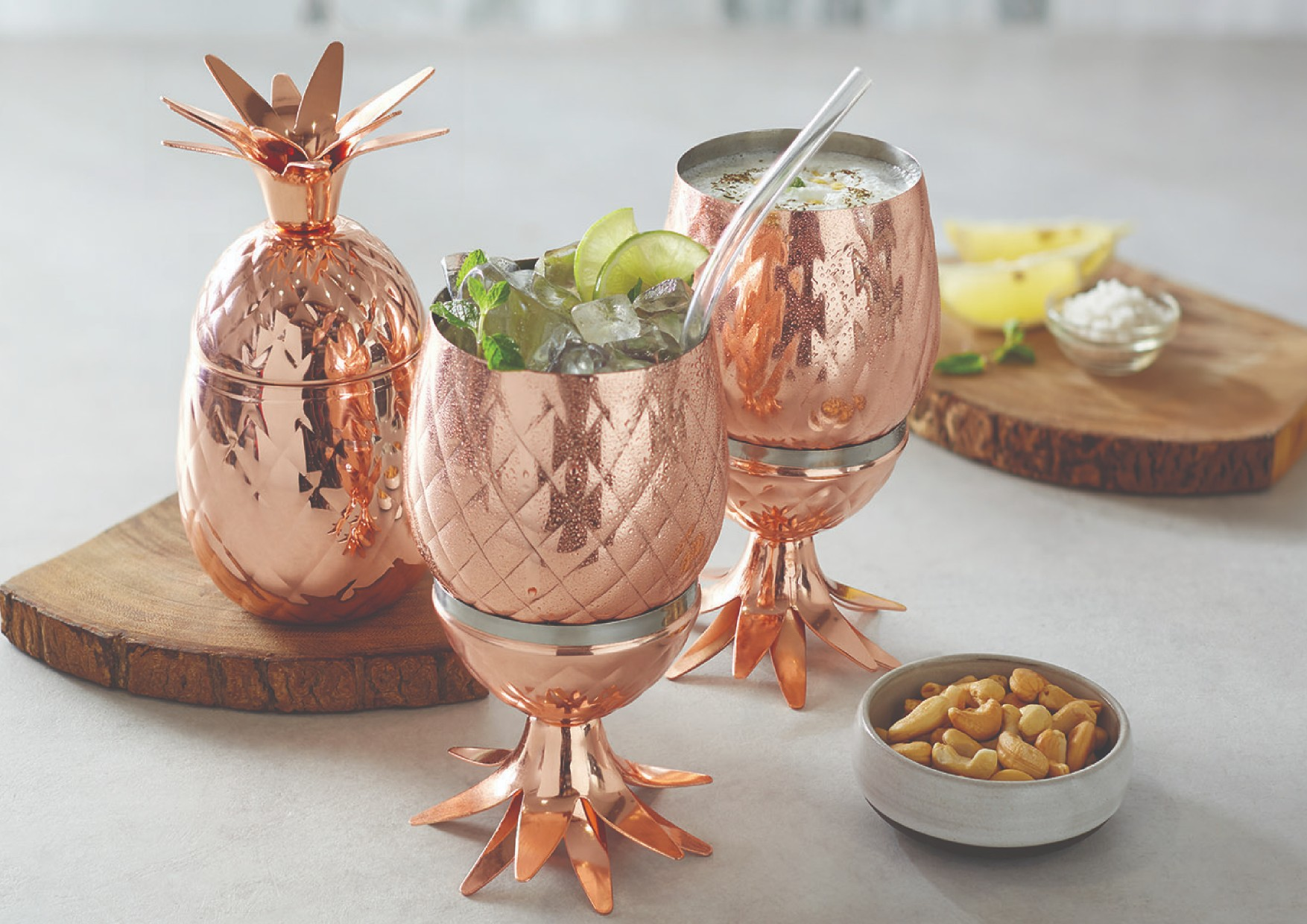 Pineapple Tumbler Stainless steel Glasses & Tumblers in Copper Colour by Songbird