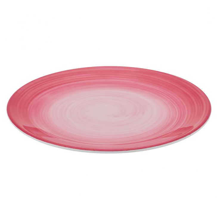 Urmi Fuschia Swirl Dinner Plate Food Grade Melamine Plates in Multi Color Colour by Living Essence