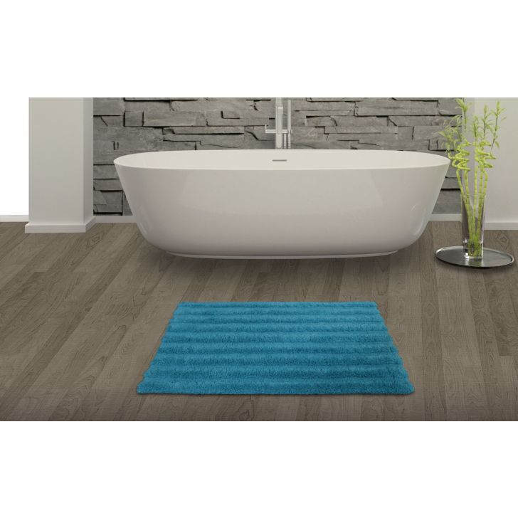 Spaces Swift Dry Turquoise Green Cotton Bath Mat - Large