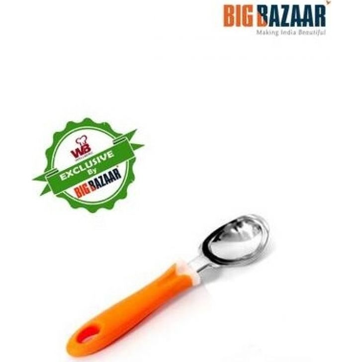 Ice Cream Scoop with Plastic Handle Steel Other Kitchenware in Multi Colour by Wellberg