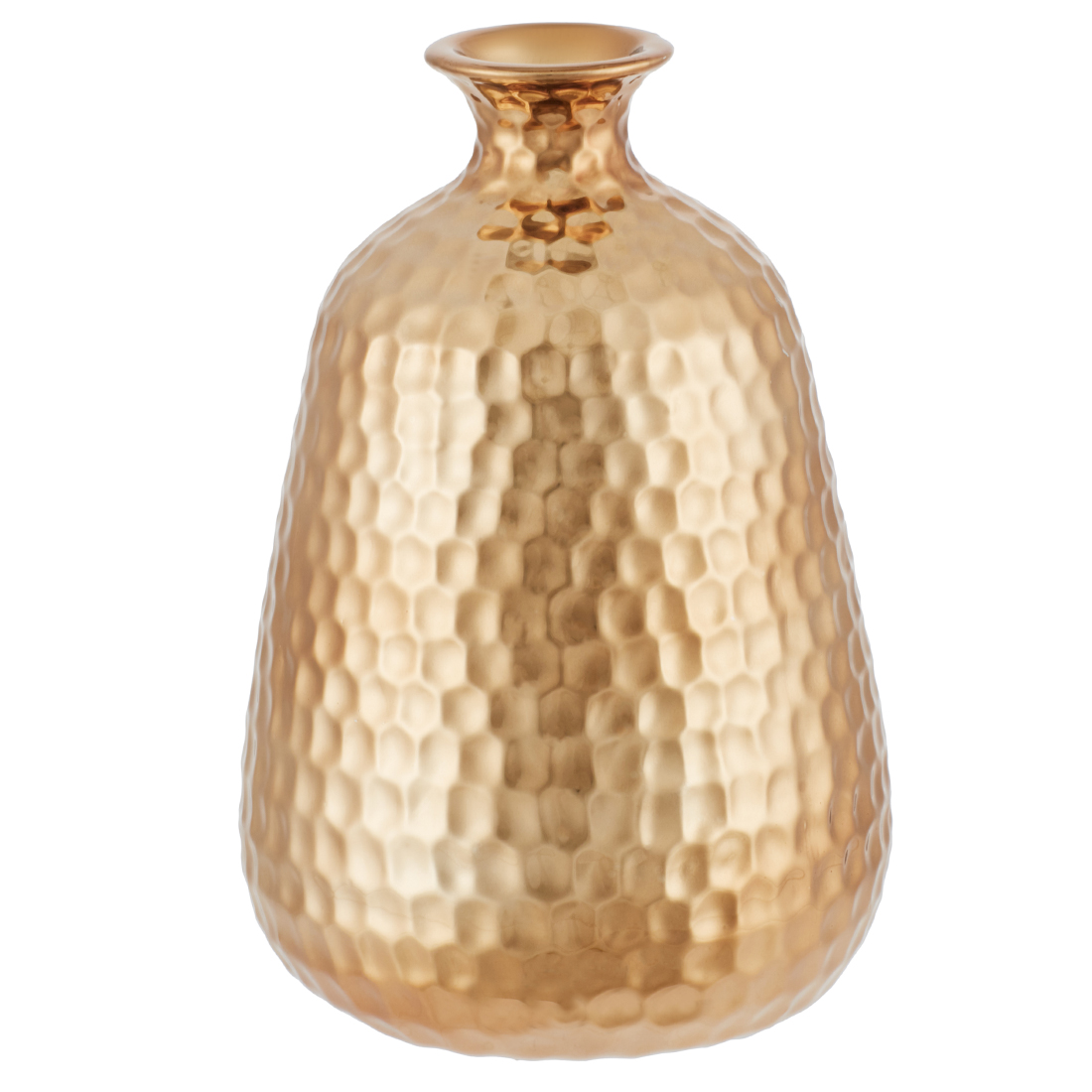 Luna Ribbed Textured Bottle Vs Gold Ceramic Table D in Gold Colour by Living Essence