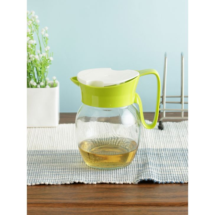 Glass Jug in Transparent Colour by Living Essence