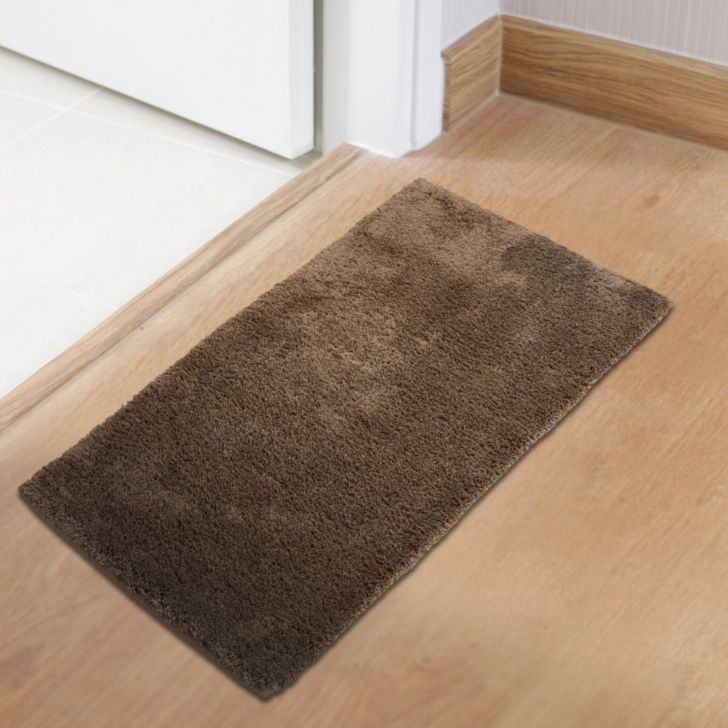 Spaces Polyester Bath Mat in Canyon Brown Colour by Spaces