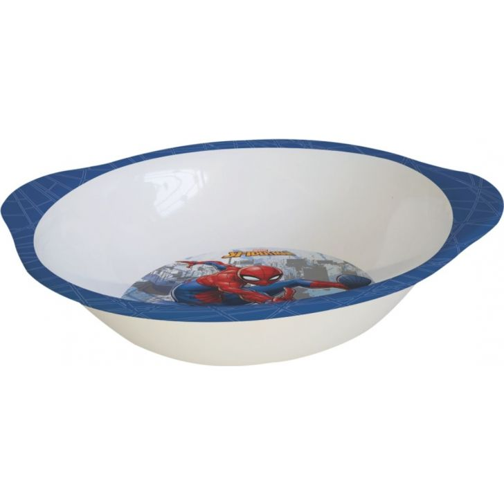 Spiderman Melamine Kids Bowl with Handle in Multi Colour by Servewell