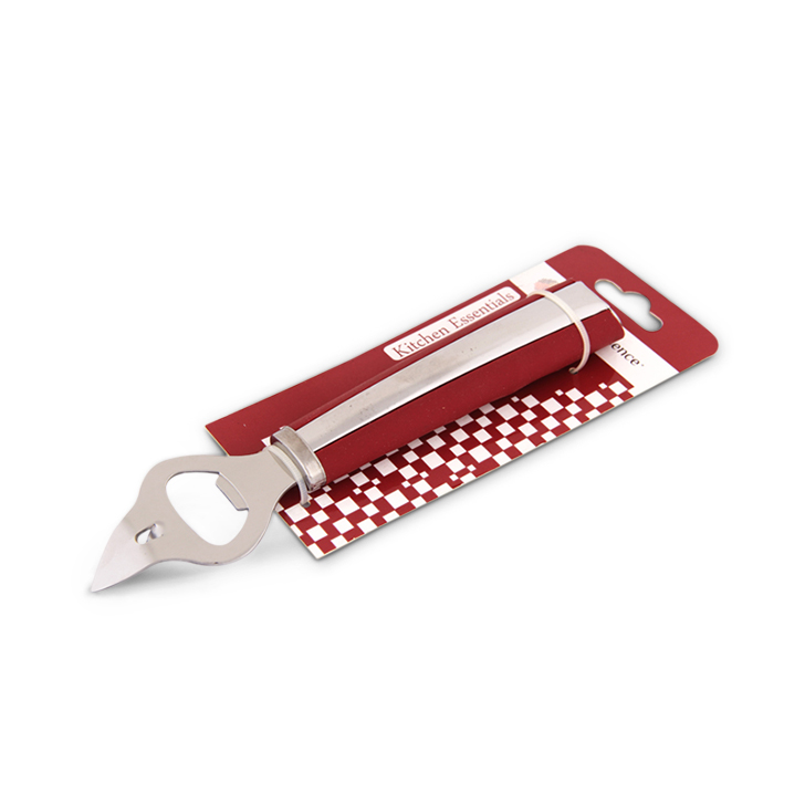 Bottle Opener Stainless steel Kitchen Tools in Silver And Maroon Colour by Living Essence