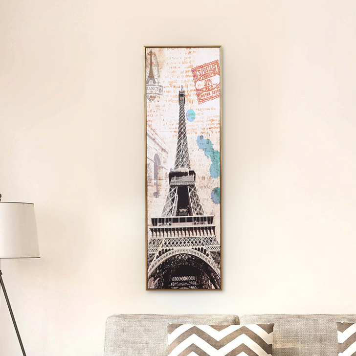 Hayden Eiffel Tower 26X87Cm Painting Canvas Paintings in MULTICOLOUR Colour by Living Essence