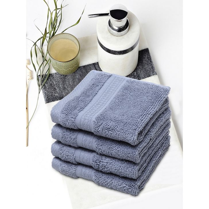Spaces Cotton Face Towel in Petrol Colour by Spaces
