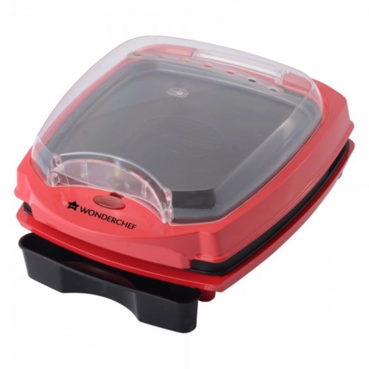 Tandoor Burger & Grill Master Aluminium Thermoware in Red & Black Colour by Wonderchef