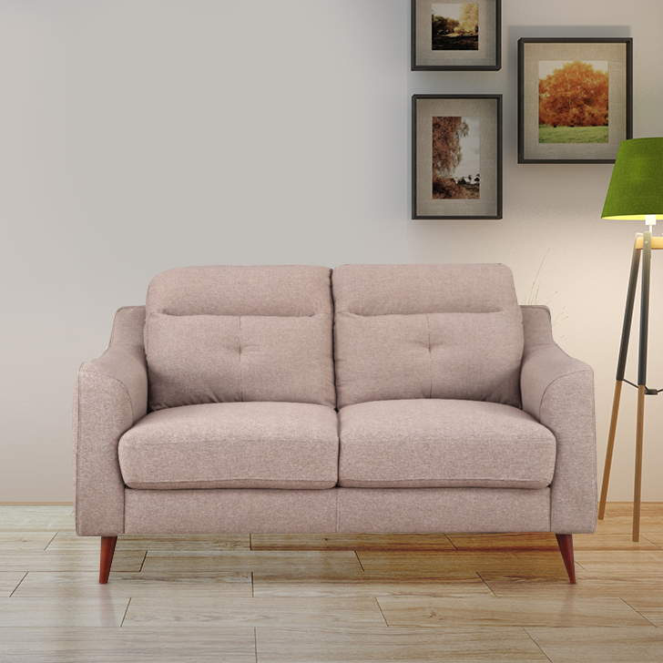 Sheldon Fabric Two Seater Sofa in Brown Colour by HomeTown
