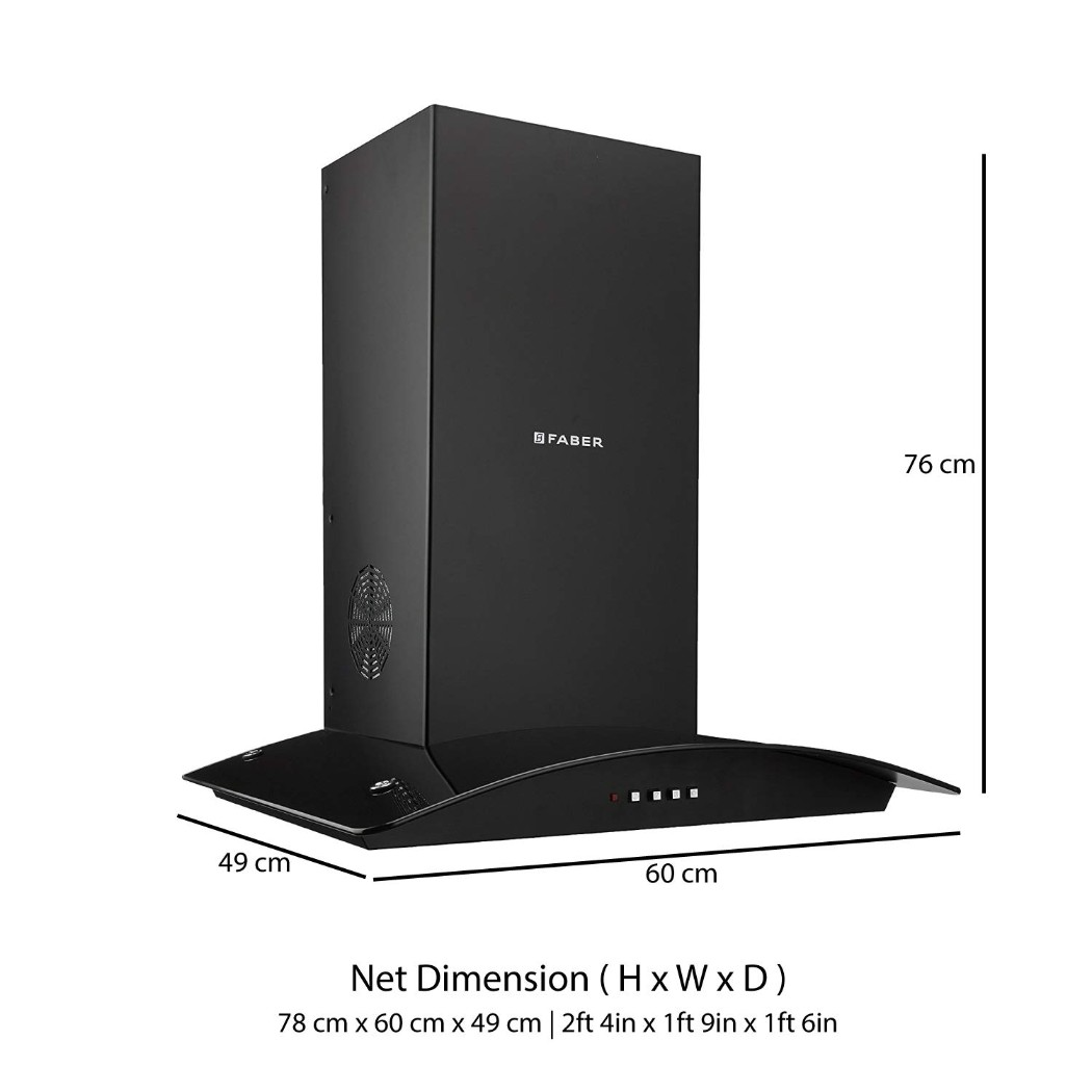 Faber Stainless steel Chimney Feel 3D T2S2 Bk LTW 60 by HomeTown