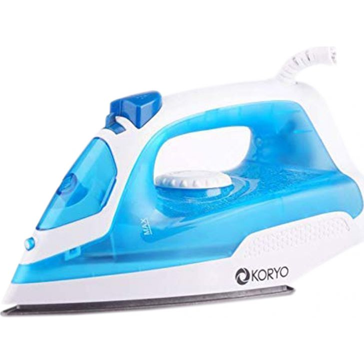 Vertical Steam Iron With Self Clean Technology (1250 W) - Blue by Koryo