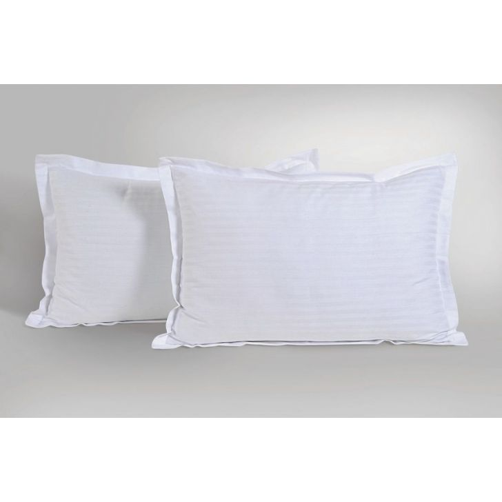Solid Single Pillow Cover In White Color By Swayam