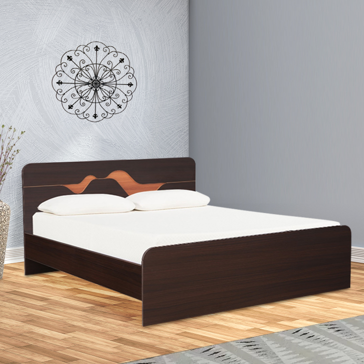 Tweady Engineered Wood Queen Size Bed in Denever Oak Colour by HomeTown