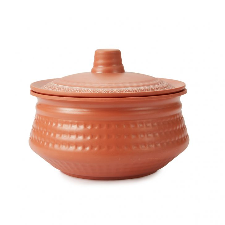 Terracotta Round Handi Small With Lid
