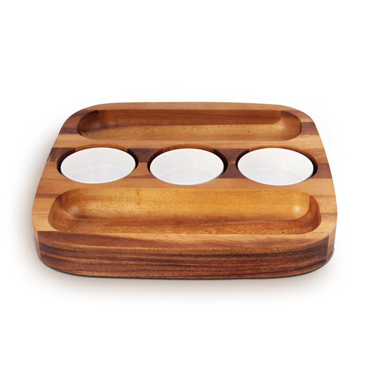 Living Essence 2 Sided Chip And Dip Tray