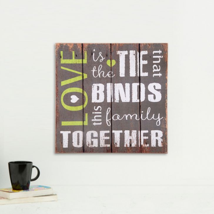 Ecstasy Love Wall Art Wood Wall Accents in Wooden Colour by HomeTown