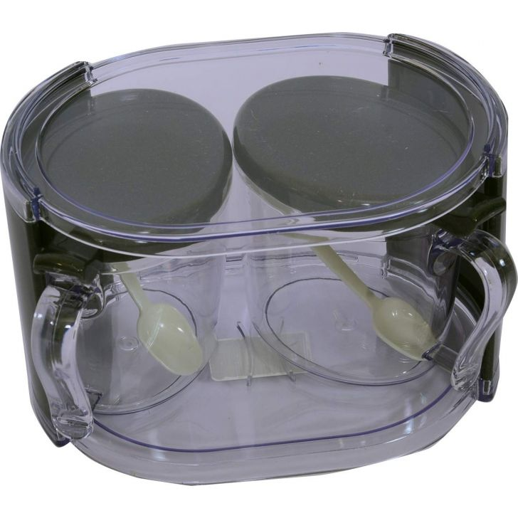 Condiment Pot1 set of 2 container Plastic in Clear Colour by BB