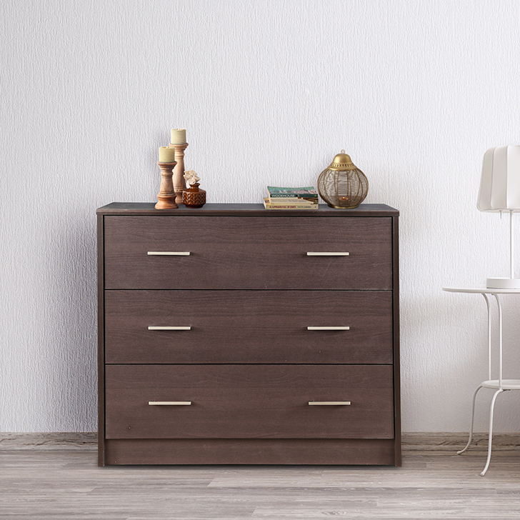 Atlas Engineered Wood Storage Cabinet in Beech Chocolate Colour by HomeTown